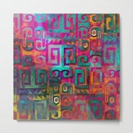 Wari colorful Metal Print