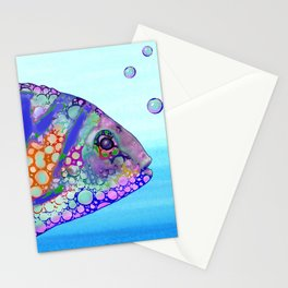 Multicolor Fish Design 183 Stationery Cards