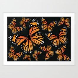 Monarch Butterflies | Monarch Butterfly | Vintage Butterflies | Butterfly Patterns | Art Print