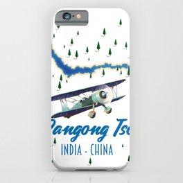 Pangong Tso India China map iPhone Case