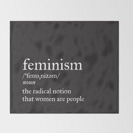 Feminism Definition Throw Blanket