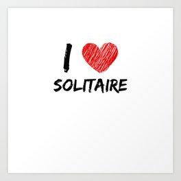 I Love Solitaire Art Print