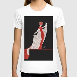 "Art Deco Fashion Design ""Alphabet Cloak"" T-shirt"