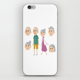 Happy National Grandparents Day iPhone Skin
