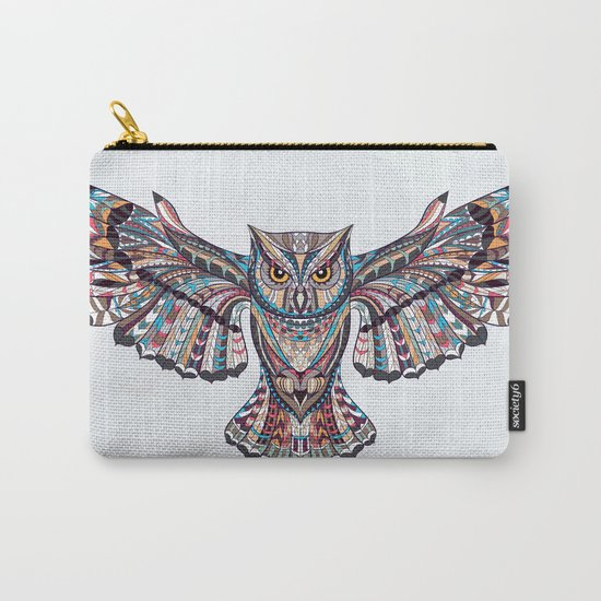 Colorful Ethnic Owl Carry-All Pouch