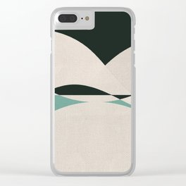 Sinuous Curves 2 Clear iPhone Case