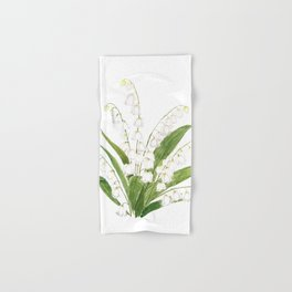 white lily of valley Hand & Bath Towel