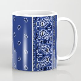 Classic Royal Blue Bandana Coffee Mug