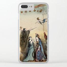 Raphael's Prophetic Almanack: an shipwreck, Cholera, and Hibernia with Britannia (1872) Clear iPhone Case