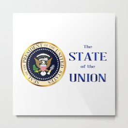 State of the Union Isolation Metal Print
