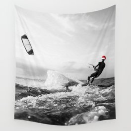 surf santa - kite surf Wall Tapestry