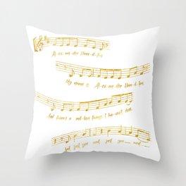 My Name is Alexander Hamilton | Musical Notes Throw Pillow