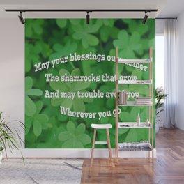 Irish Blessing Wall Mural