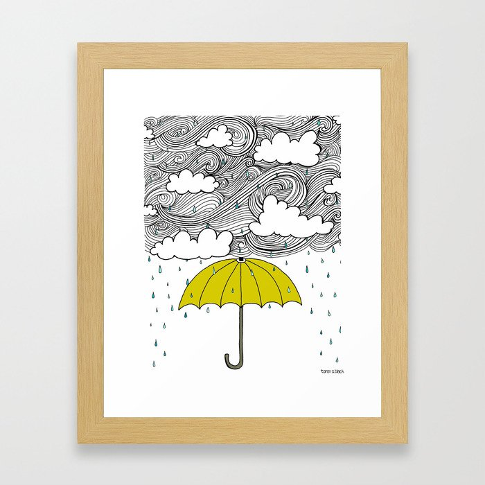 The Yellow Umbrella Framed Art Print