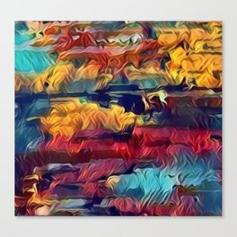 Abstract intense, strong colors Canvas Print