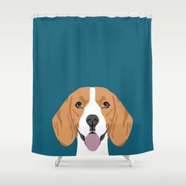 Lenon - Beagle gifts for pet owners and dog person with a beagle Shower Curtain