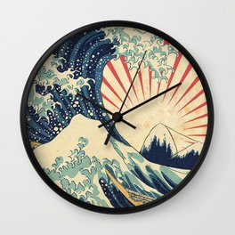 The Great Wave in Rio Wall Clock