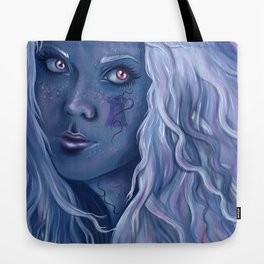Blue Tower Tote Bag