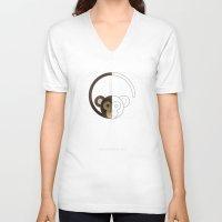 half life V-neck T-shirts featuring HALF (monkey) LIFE by Nillustra™