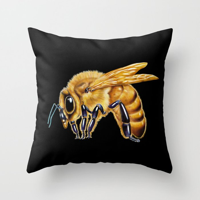 Honey Bee Throw Pillow By Timjeffsart