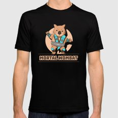 Mortal Wombat Mens Fitted Tee LARGE Black