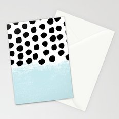 Lolita - Modern mint dots abstract painting minimal design trendy hipster decor dorm office retail  Stationery Cards