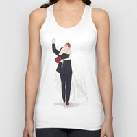 wedding Tank Tops featuring BuckyNat Wedding by Elithien