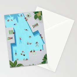 Crisp cut swim Stationery Cards