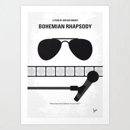 No1038 My Bohemian Rhapsody minimal movie poster Art Print
