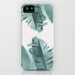 Blue Tropical Banana Leaf Plant iPhone Case