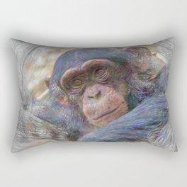 Artisatic Animal Baby Chimp Rectangular Pillow