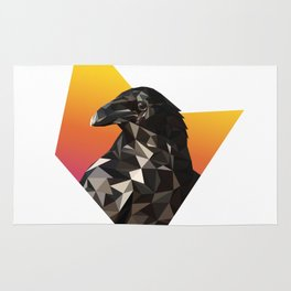 Low Poly Raven Rug