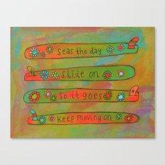 Positive Logger - Longboard Surfboards - Happy Surfers Canvas Print