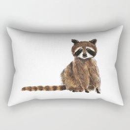 baby raccoon watercolor Rectangular Pillow