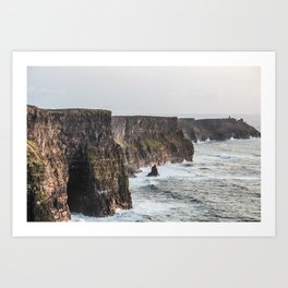 Travel to Ireland: Cliffs of Moher Art Print