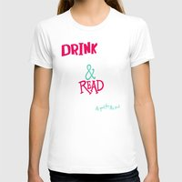 john green T-shirts featuring Coffee and John Green by Chelsea Herrick
