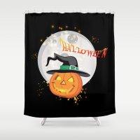 Halloween's pumpkin Shower Curtain
