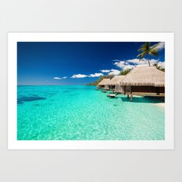 Nice Sea Bungalows Art Print
