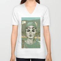 swim V-neck T-shirts featuring SWIM by Camila Fernandez