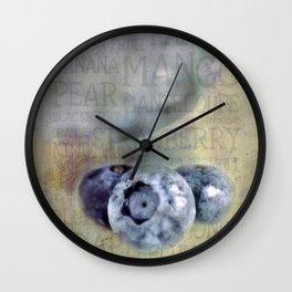 Blueberry Art Wall Clock