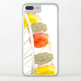 Travel photography Santa Monica X Ferris wheel Clear iPhone Case