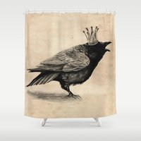 raven Shower Curtains featuring Raven by Anna Shell