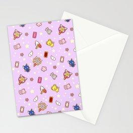 cardcaptor sakura cute pattern lilac Stationery Cards