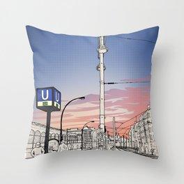 S+U Warschauer Strasse Throw Pillow