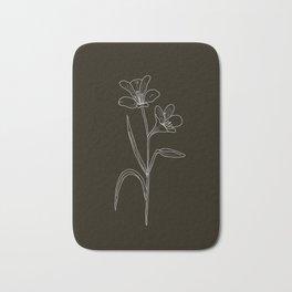 Amancay Wildflower in black Bath Mat