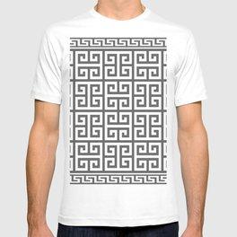 Greek Key (Grey & White Pattern) T-shirt