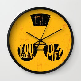 Taxi Driver - you talking to me? Wall Clock