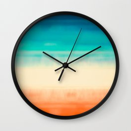 That Summer Feeling #painting #abstract Wall Clock