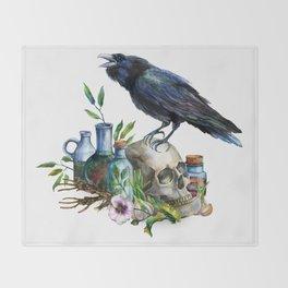 Raven Magick Throw Blanket