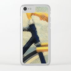 Gold Handlebar Clear iPhone Case